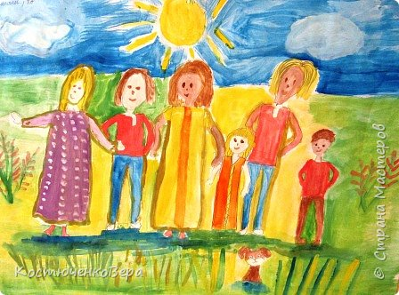 С детьми на внеурочном занятии сделали рисунки ко Дню матери. Работали несколько занятий вложили много сил! Автор Ковылина Алина, 5 класс Мамин сыночек. фото 5