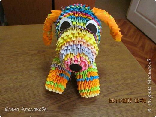 Здравствуйте, дорогие жители страны мастеров! Наступающий 2018 год, как известно, год желтой собаки. Но делать собаку одним цветом мне показалось скучно, и я сделала собаку цветную, фестивальную. фото 1