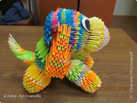 Здравствуйте, дорогие жители страны мастеров! Наступающий 2018 год, как известно, год желтой собаки. Но делать собаку одним цветом мне показалось скучно, и я сделала собаку цветную, фестивальную. фото 2