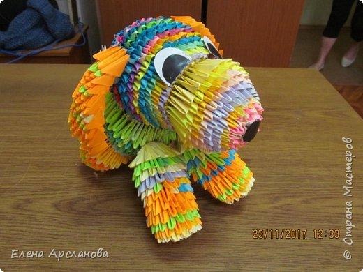 Здравствуйте, дорогие жители страны мастеров! Наступающий 2018 год, как известно, год желтой собаки. Но делать собаку одним цветом мне показалось скучно, и я сделала собаку цветную, фестивальную. фото 3