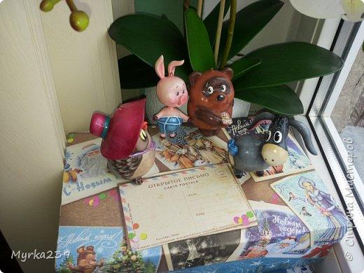 Всем поклонникам мультфильма про Винн -пуха, посвящается!)) Елочные игрушки сделаны из многослойного папье-маше, полые, лёгкие. Расписаны акриловыми красками, украшены глиттерами(блёстками), покрыты лаком. фото 3