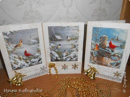 """Это 3 открытки """"Птицы зимой"""" фото 2"""