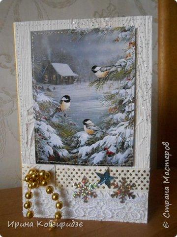 """Это 3 открытки """"Птицы зимой"""" фото 3"""