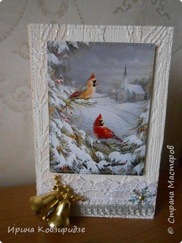 """Это 3 открытки """"Птицы зимой"""" фото 7"""