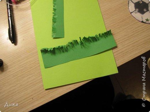 Всем огромный привет!   Сегодня хочу вам показать четвертую открытку, которую я сделала для одноклассника. У него день рождения 24 ноября. Он очень любит футбол, и я решила сделать открытку шейкер. Уже вручили ему, он очень обрадовался! Чтобы сделать открытку я приклеила две плотные цветные бумаги фото 15