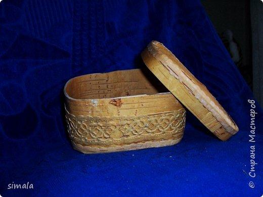Шкатулки- резьба по бересте. фото 2