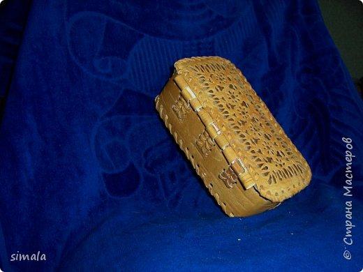 Шкатулки- резьба по бересте. фото 8
