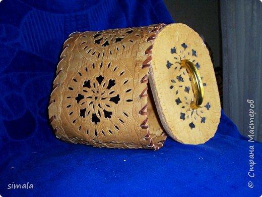 Шкатулки- резьба по бересте. фото 11