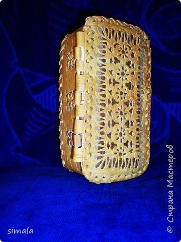 Шкатулки- резьба по бересте. фото 15