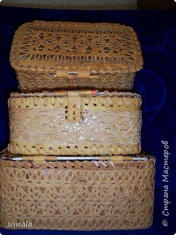 Шкатулки- резьба по бересте. фото 1