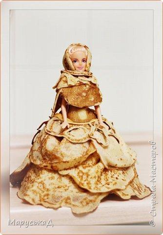 кукла на масленицу. платье из блинчиков.