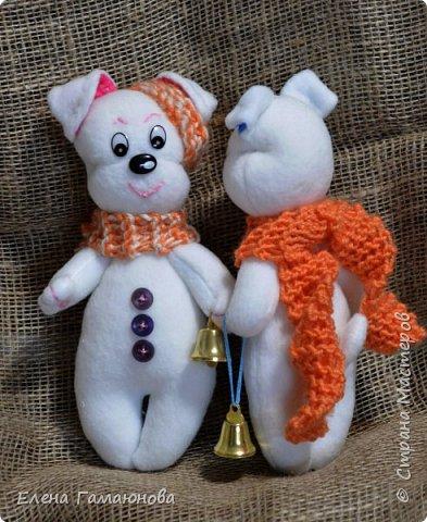 Щенки-снеговики фото 1