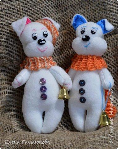 Щенки-снеговики фото 2