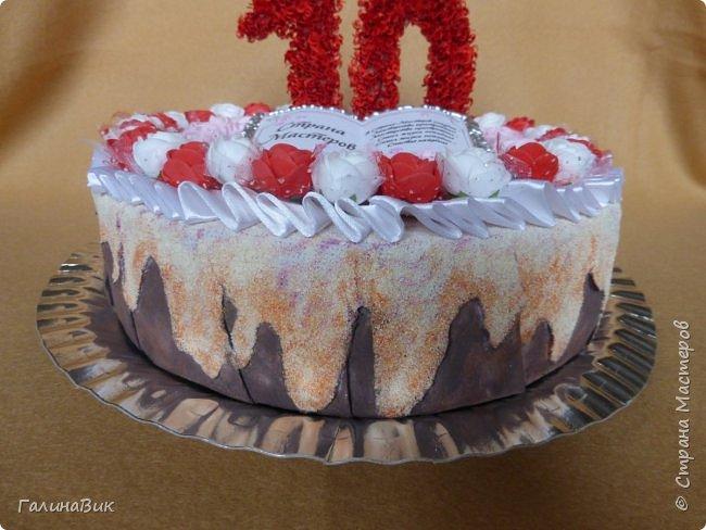 Спешу поздравить родную Страну Мастеров с юбилеем! Желаю долголетия и процветания!!! В качестве сладкого подарка выбрала торт с ''масляными'' розочками и ''сладкой'' книгой! фото 5