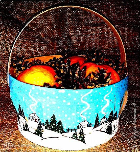 Новогодняя корзинка фото 5