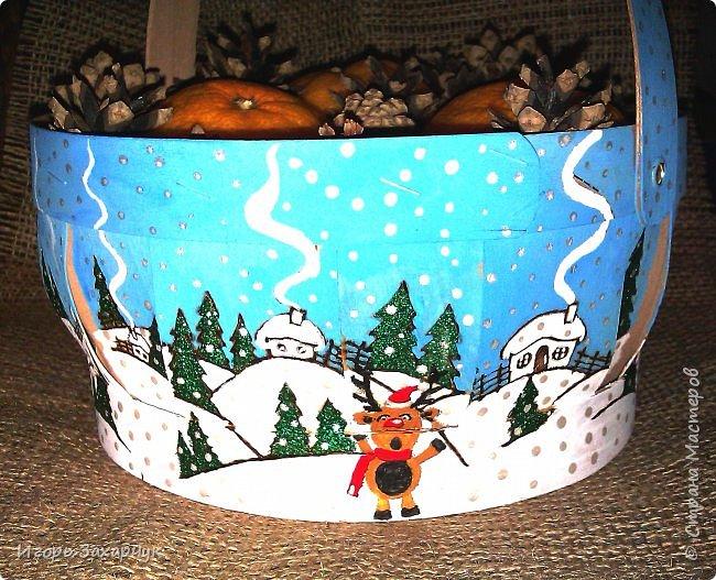 Новогодняя корзинка фото 4