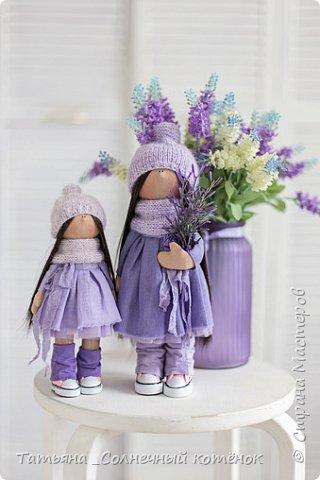Текстильные куколки мама с дочкой Надежда и Любаша фото 1