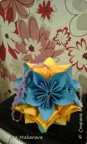 К Новому году. Поделка на елку в стиле кусудама. Мастер-класс здесь - http://stranamasterov.ru/node/122042?c=favorite