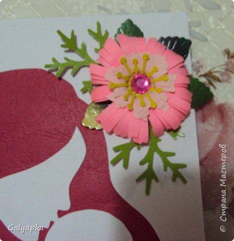 Сегодня я поздравила свою мамочку с праздником и подарила ей эту открытку. Шаблон и слова из инета фото 4