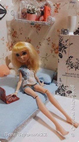 Этот румбокс я делала для куколки Блонди  Хотелось сделать милую комнатку и у меня получилось !!! фото 2