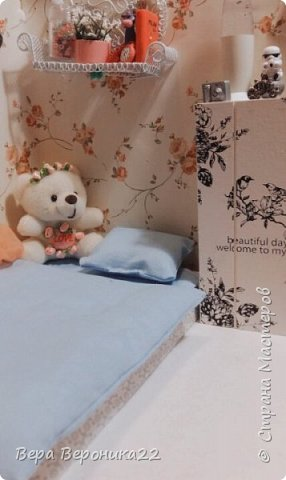 Этот румбокс я делала для куколки Блонди  Хотелось сделать милую комнатку и у меня получилось !!! фото 1
