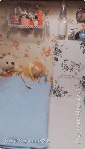 Этот румбокс я делала для куколки Блонди  Хотелось сделать милую комнатку и у меня получилось !!! фото 4