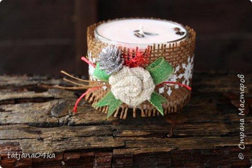Каждый год создаю свечи в подарок,,,в этом году попыталась сделать декор из  ниток,,и всё равно вернулась к яркому  оформлению,,, фото 9