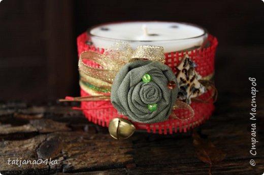 Каждый год создаю свечи в подарок,,,в этом году попыталась сделать декор из  ниток,,и всё равно вернулась к яркому  оформлению,,, фото 8