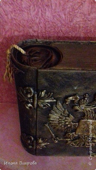 Коробочка для маминых сокровищ.крестнику в подарок. Прошу прощения за  качество фото.быстро делала.быстро забрали. фото 8