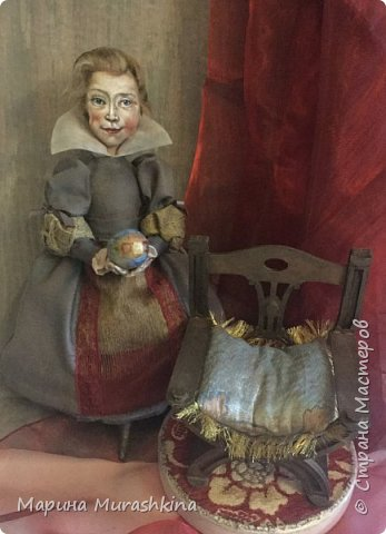 По мотивам картины Питера Пауля Рубенса «Голова ребенка» (портрет дочери Клары Серены. 1611 год) сшила новую куклу. фото 3