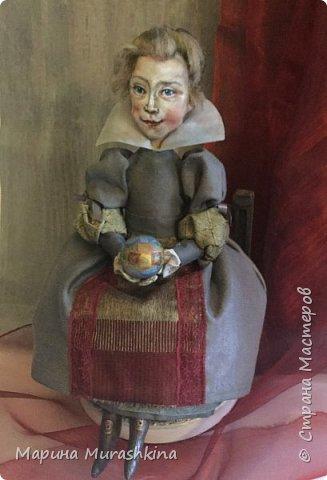 По мотивам картины Питера Пауля Рубенса «Голова ребенка» (портрет дочери Клары Серены. 1611 год) сшила новую куклу. фото 5