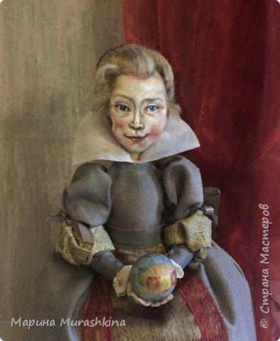 По мотивам картины Питера Пауля Рубенса «Голова ребенка» (портрет дочери Клары Серены. 1611 год) сшила новую куклу. фото 1