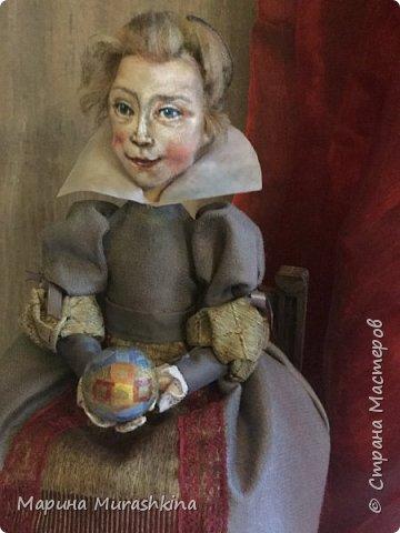 По мотивам картины Питера Пауля Рубенса «Голова ребенка» (портрет дочери Клары Серены. 1611 год) сшила новую куклу. фото 4