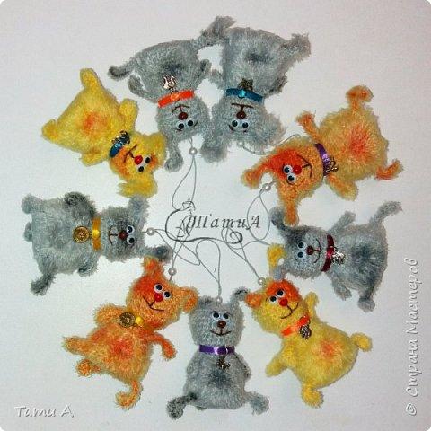 Собачки (игрушки на елку или брелочек) фото 1
