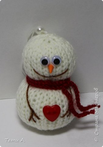 снеговики (игрушка на елку) фото 2