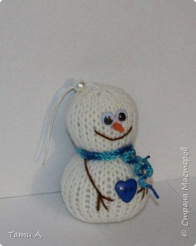 снеговики (игрушка на елку) фото 4