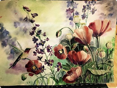 Картины акварелью, моя Деревня  фото 13