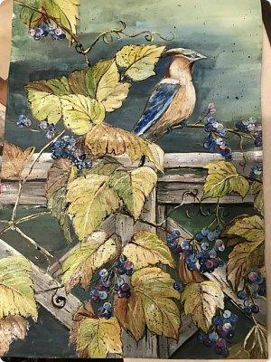 Картины акварелью, моя Деревня  фото 12
