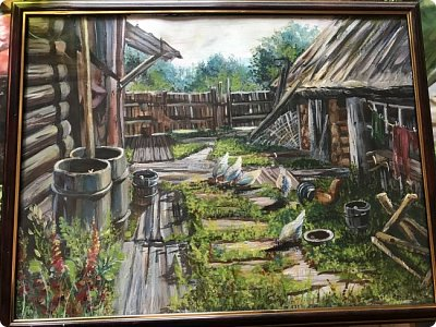 Картины акварелью, моя Деревня  фото 6