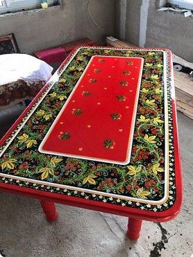 Стол в стиле хохлома , полностью ручная работа фото 1