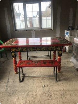 Стол в стиле хохлома , полностью ручная работа фото 4