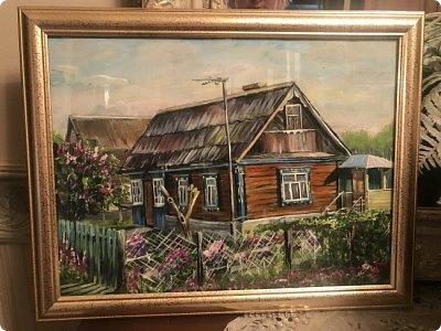 Картины акварелью, моя Деревня  фото 5