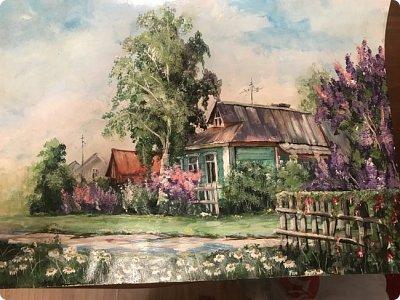 Картины акварелью, моя Деревня  фото 1