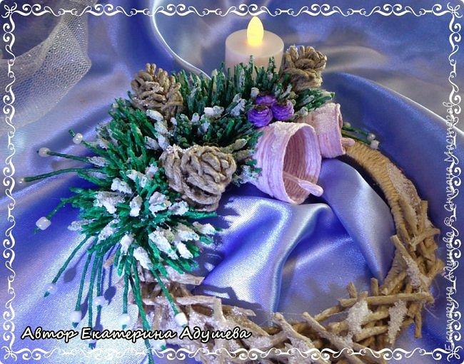 Здравствуете все кто заглянул на маю страничку!!!  Скоро Новый год, время сюрпризов и подарков, вот и пришла пора на их изготовление, решила в этом году а точнее на конец этого года сделать снежинки и декоративные веночки из льняного и джутового шпагата. фото 6