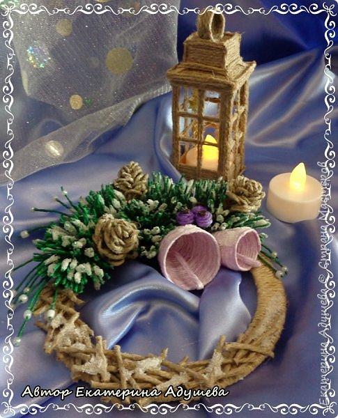 Здравствуете все кто заглянул на маю страничку!!!  Скоро Новый год, время сюрпризов и подарков, вот и пришла пора на их изготовление, решила в этом году а точнее на конец этого года сделать снежинки и декоративные веночки из льняного и джутового шпагата. фото 4