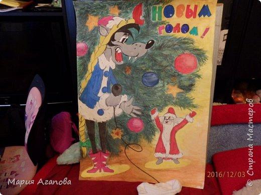 Я с мамой нарисовала этот плакат на Новый год в школу. Скоро Новый год и вы нарисуйте такой.