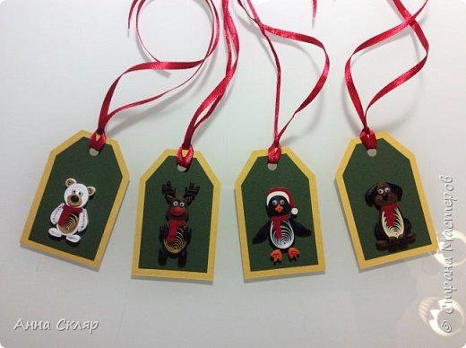 Бирки для новогодних подарков фото 1