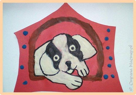 Продолжаем серию новогодних портретов, рисуем собачку. фото 24
