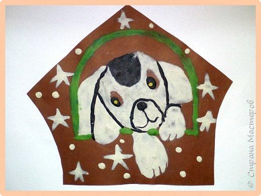 Продолжаем серию новогодних портретов, рисуем собачку. фото 19