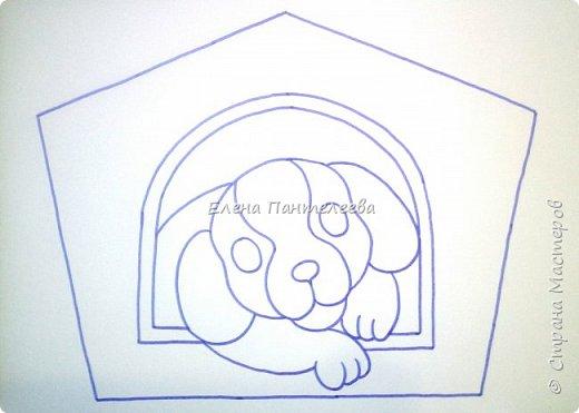Продолжаем серию новогодних портретов, рисуем собачку. фото 12